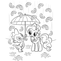 My little Pony Spike & Pinkie Pie Malvorlage