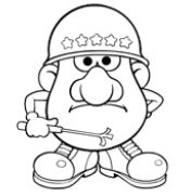 Famous Mr. Potato Head coloring book