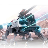 STAR WARS: THE CLONE WARS AT-TE RESCUE GAME