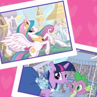 Crea una tarjeta de My Little Pony con tus ponies favoritos.