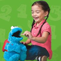 PLAYSKOOL Sesame Street Count 'n Crunch Cookie Monster Demo