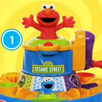 PLAY-DOH Sesame Street Elmo Color Mixer Demo