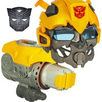 TRANSFORMERS - Revenge of the Fallen Bumblebee Voice Mixer Helmet and Plasma Cannon - Demo