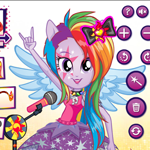 My Little Pony Se deg selv som Equestria Girls - med rockestil