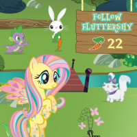 Play the Follow Fluttershy Game and Win a Fluttershy Colouring Page