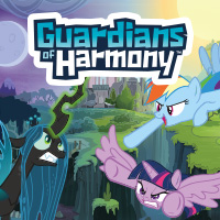 Play the My Little Pony Guardians of Harmony game and defeat Queen Chrysalis!