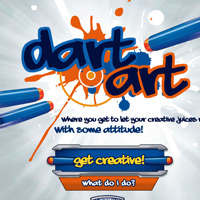 Nerf Dart Art Game for Kids