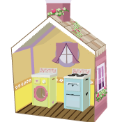 PLAYSKOOL Decorate & Print Your Own Cottage Activity