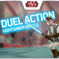 Star Wars Duel Action Lightsaber Game