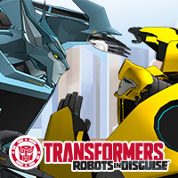 Duelo de facciones de Transformers Robots in Disguise