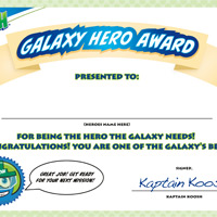 KOOSH Award Certificate