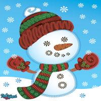 Activité DohVinci à imprimer: bonhomme de neige