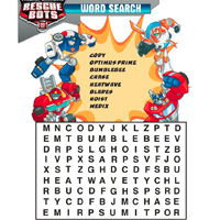 PLAYSKOOL HEROES Transformers Rescue Bots Word Search Activity