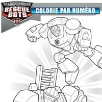 TRANSFORMERS RESCUE BOTS - Colorie par numéro