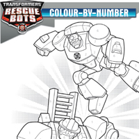 PLAYSKOOL HEROES TRANSFORMERS RESCUE BOTS Colour-By-Number Activity