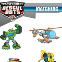 PLAYSKOOL HEROES TRANSFORMERS RESCUE BOTS Matching Activity