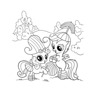 My little Pony Scootaloo & Sweetie Belle Malvorlage