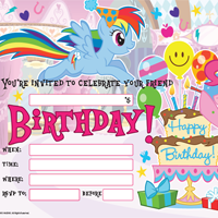 MY LITTLE PONY BIRTHDAY PARTY INVITE