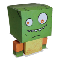 NERF Paper Craft Alien Target - Printable