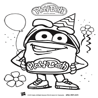 Playdoh Birthday Toolkit Coloring Sheet DohDoh Blue