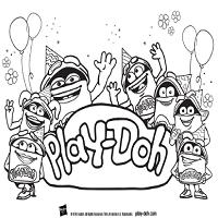Playdoh Birthday Toolkit Coloring Sheet DohDoh Group