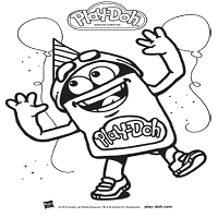 Playdoh Birthday Toolkit Coloring Sheet DohDoh Orange