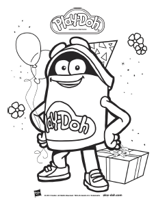 Playdoh Birthday Toolkit Coloring Sheet DohDoh Purple