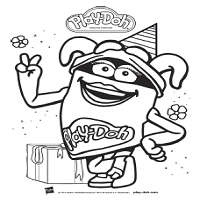 Playdoh Birthday Toolkit Coloring Sheet DohDoh Red
