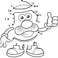 MR. POTATO HEAD Connect-the-Dots Activity