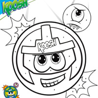 KOOSH Color By Number KAPTAIN KOOSH