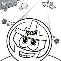 KOOSH Faceball Coloring Sheet 1