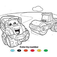 CHUCK AND FRIENDS Color By Numbers
