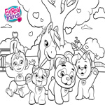 FurReal Friends Coloring Sheet Group Shot