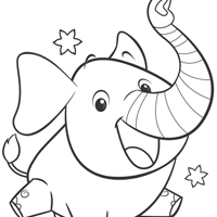 ELEFUN & FRIENDS Colouring Page