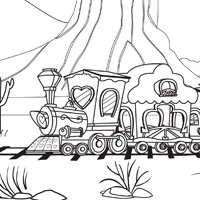 Coloring Page: Friendship Express Train