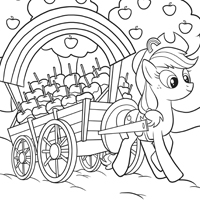 MY LITTE PONY Page à colorier - AppleJack