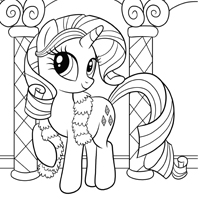 MY LITTE PONY Page à colorier - Rarity