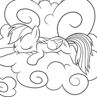 MY LITTE PONY Page à colorier - Rainbow Dash
