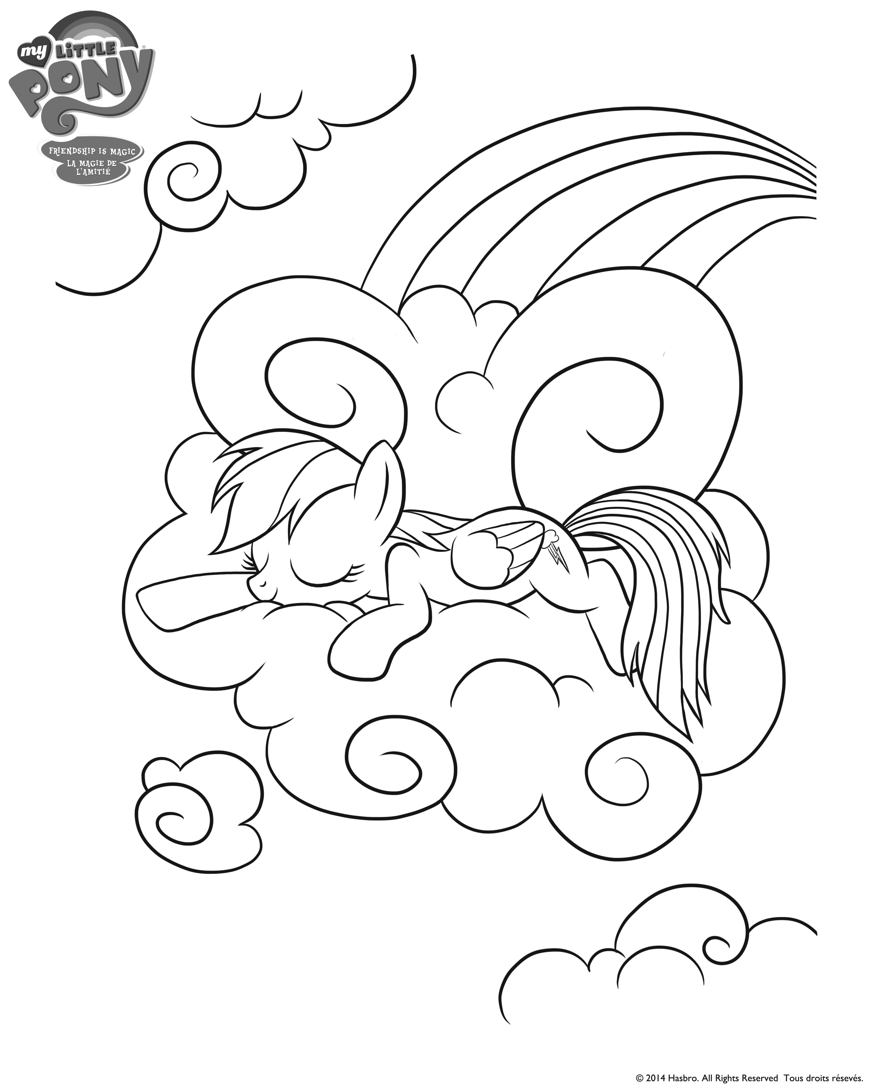 My Litte Pony Rainbow Dash And Friends Colouring Page My Pony Equestria Rainbow Dash Coloring Pages