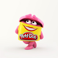 PLAY-DOH Pink Doh Doh Colouring Page