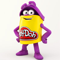 PLAY-DOH Purple Doh Doh Colouring Page