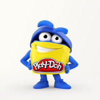 PLAY-DOH Blue Doh Doh Colouring Page
