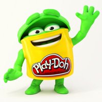 PLAY-DOH Green Doh Doh Coloring Page