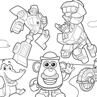 PLAYSKOOL Colouring Page