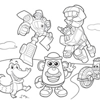 PLAYSKOOL Printable Coloring Sheet
