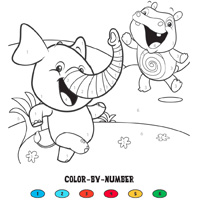 PLAYSKOOL ELEFUN & FRIENDS Color by Numbers Activity