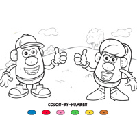 Playskool Mr. Potato Head Color by Numbers Activity