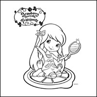 STRAWBERRY SHORTCAKE - Lemon Meringue Colouring Page 2