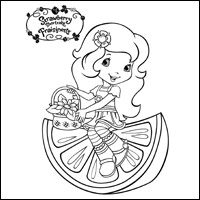 STRAWBERRY SHORTCAKE - Orange Blossom Colouring Page 2