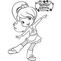 STRAWBERRY SHORTCAKE - Plum Pudding Colouring Page